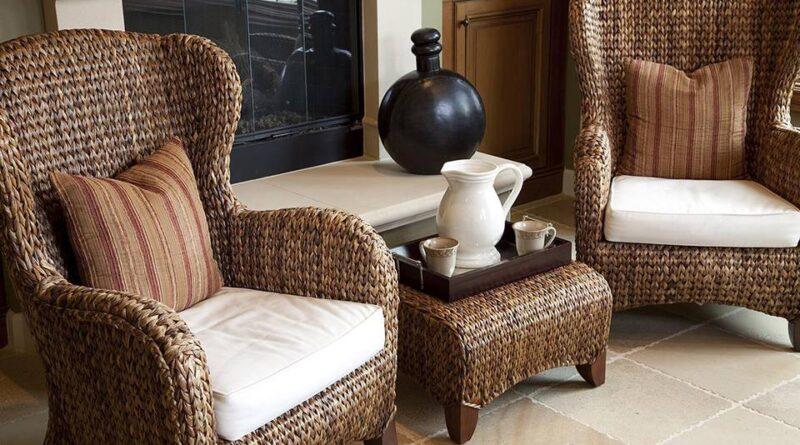 Виды плетеной мебели и сырье для ее производства